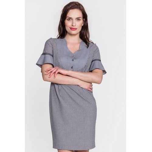 Sukienka w kratkę - Margo Collection, 1 rozmiar