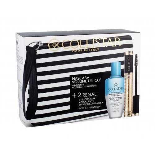 COLLISTAR Volume Unico Mascara Black 13ml + Struccatore Addolcente Bi Fase + COSMETIC BAG (8015150158800)