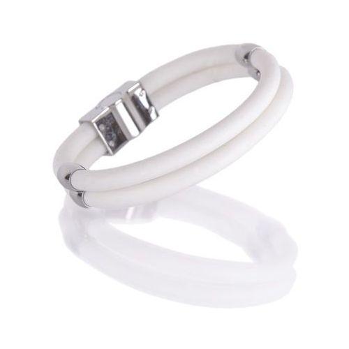 Bransoletka magnetyczna Toliman inSPORTline, 19.50 cm, Biały, kolor biały