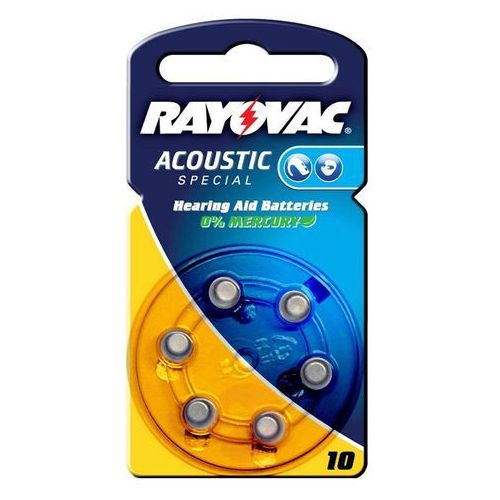 Mała bateria Rayovac 10 Acoustic 1,4V, 105m Ah