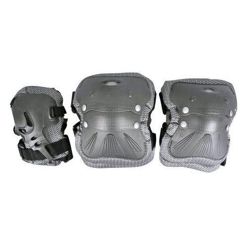 Zestaw ochraniaczy na dłonie, łokcie i kolana coolmax - 6 sztuk, szary, m marki Spartan