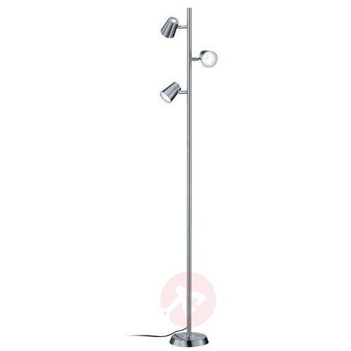 Trio NARCOS Lampa stojąca LED Nikiel matowy, 3-punktowe - Nowoczesny - Obszar wewnętrzny - NARCOS - Czas dostawy: od 4-8 dni roboczych (4017807302691)