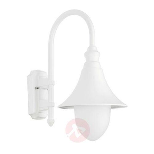 Stylowa zewnętrzna lampa ścienna Miranda biała