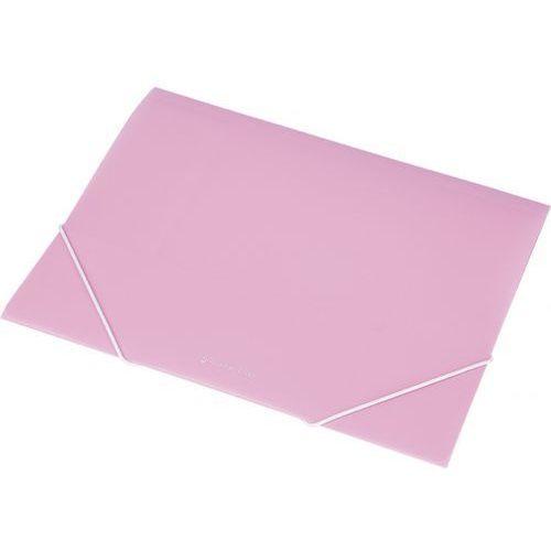 Panta plast Focus teczka na gumke a4 transparentna rozowa ex4302 panta