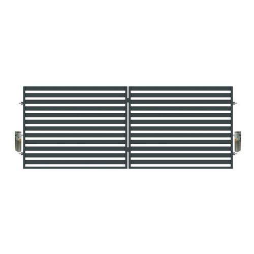 Brama dwuskrzydłowa z automatem Polbram Steel Group Lara 400 x 154 cm (5900652450107)