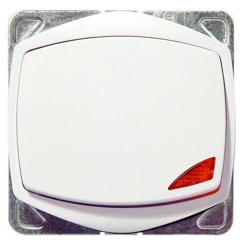 Przycisk zwierny dzwonek z podświetleniem ton color system biały marki Ospel