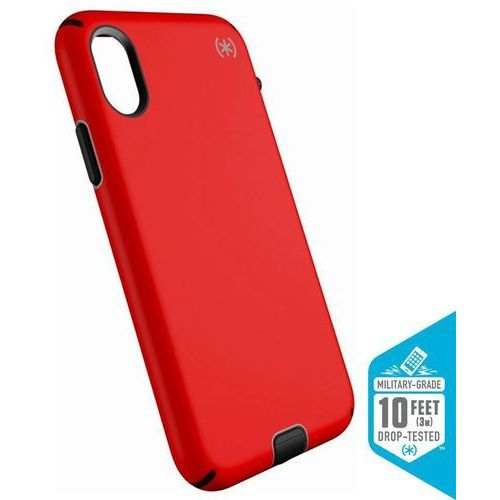 presidio sport etui obudowa iphone x (black/poppy red) marki Speck