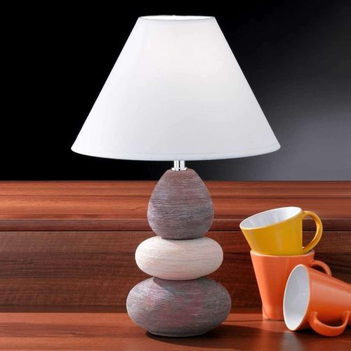 Oświetlenie honsel Honsel balon lampa stołowa chrom, rudy, brązowy, biały, 1-punktowy