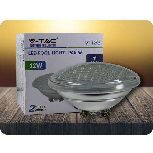 Led lampa basenowa 12w, par56, 12v, ip68 + bezpłatna natychmiastowa gwarancja wymiany! zimna biała 6400k marki V-tac