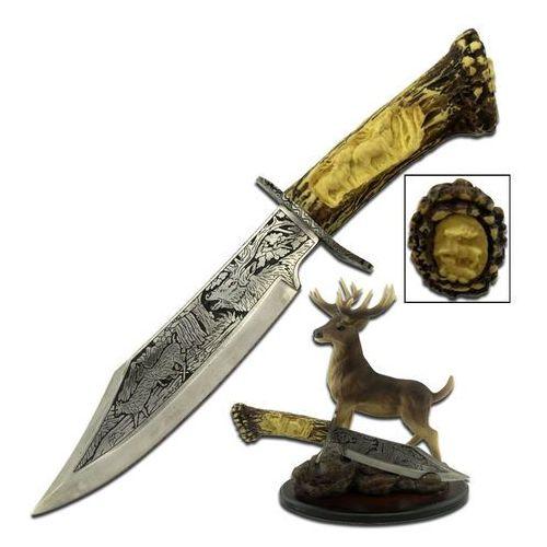 Usa Wspaniały nóż kordzik myśliwski ze stojakiem jeleń wc-31d