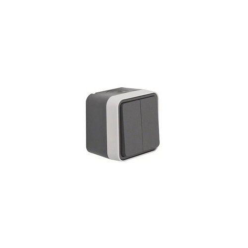 Berker Przycisk seryjny, powierzchnowy w.1  50753515, ip55, 250 v/ac, szary, jasnoszary