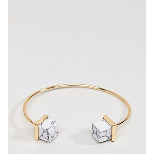 marble cuff bracelet - gold marki Glamorous