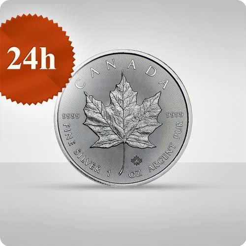 Kanadyjski Liść Klonowy 1 uncja srebra - wysyłka 24 h! - 24 h