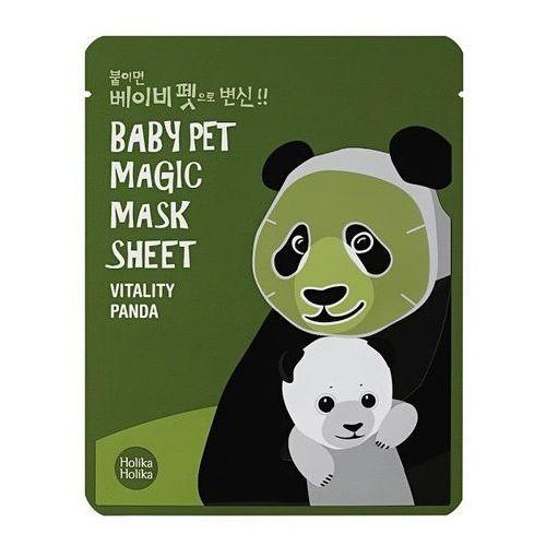 Holika Holika Baby Pet Magic Mask Sheet Vitality Panda - Maseczka do twarzy (8806334359928)