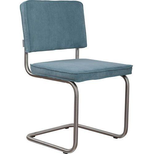 Zuiver krzesło ridge brushed rib niebieskie 12a 1100084