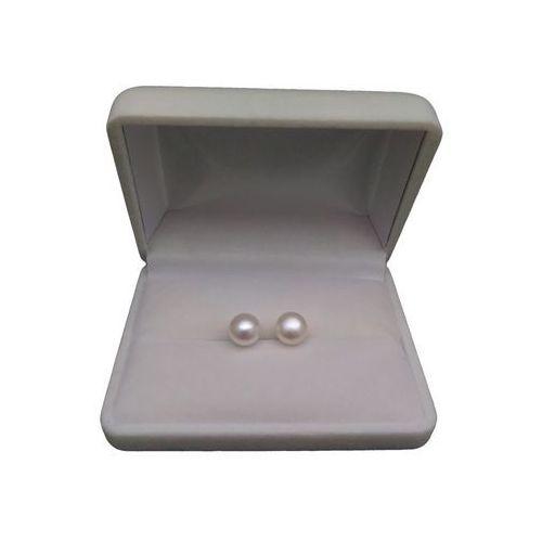 Kolczyki z białymi perłami 8-8,5 mm PK05-A, kolor biały