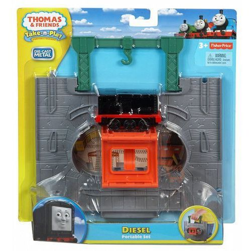 Mattel Fisher Price Zestaw startowy z kolejką Diesel Take-n-Play