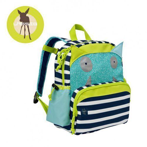 Lassig Plecak z termoizolacyjną kieszenią Little Monster granat, kolor niebieski