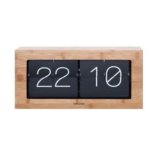 Zegar stołowo/ścienny Flip Clock Boxed XL bamboo by Karlsson