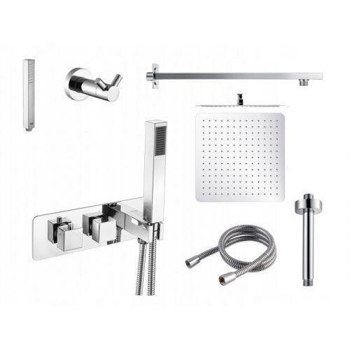 Swissliniger Zestaw podtynkowy 7w1kw termostat deszczownica 20/30/40cm