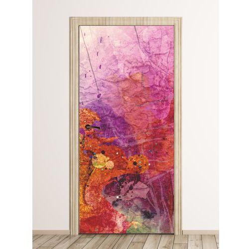 Wally - piękno dekoracji Fototapeta naklejka na drzwi kolorowa abstrakcja fp 6300