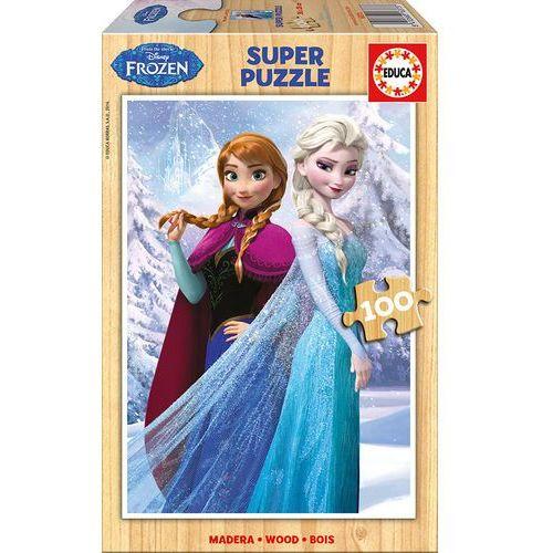 Educa Puzzle 100 drewniane kraina lodu (8412668163737)