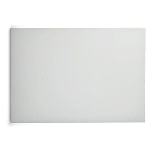 Deska polietylenowa HDPE do krojenia, HACCP, biała, wymiary 49,5x35x2 cm, XANTIA 78556
