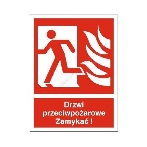 Znak drzwi przeciwpożarowe. zamykać! (w lewo) marki Techem