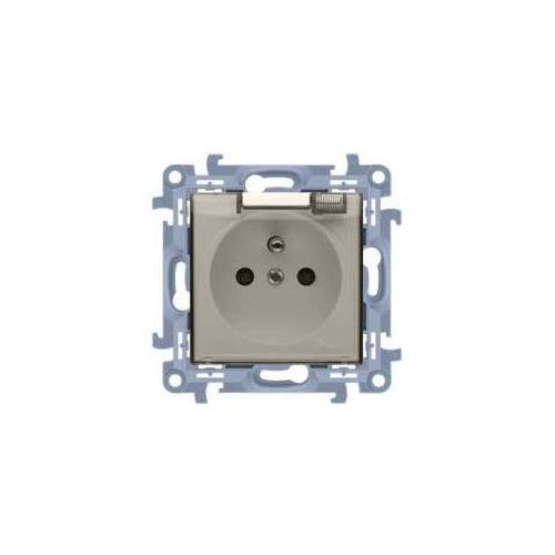 Gniazdo hermetyczne simon 10 cgz1bz.01/41a ip44 z przesłonami, z uszczelką klapka w kolorze transparentnym kremowe kontakt-simon marki Kontakt simon