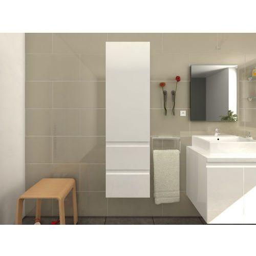 Vente-unique Szafka łazienkowa lavita — biały błyszczący