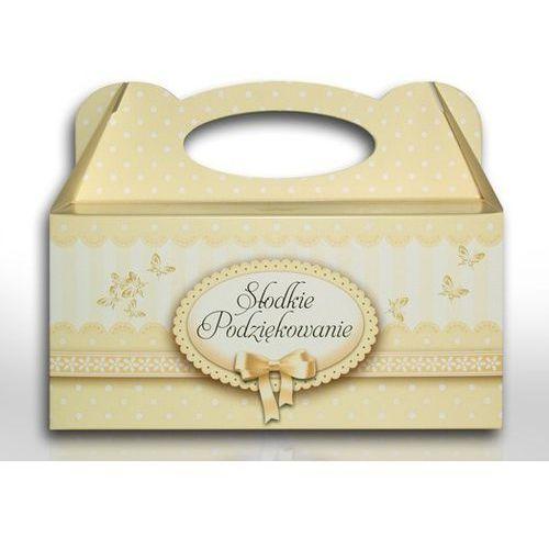 Ozdobne pudełko na ciasto na chrzest lub roczek - 1 szt.