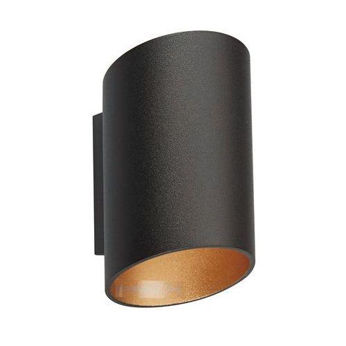 Zuma line Kinkiet slice wl 50603-bk/gd lampa oprawa ścienna 1x40w g9 czarny / złoty