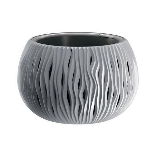 Prosperplast Doniczka sandy bowl z wkładem 29 cm szara (5905197223483)