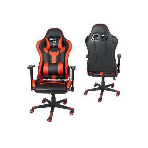 Sk design Fotel gamingowy czerwony skg002 c - czerwony ||czarny (5902846829522)