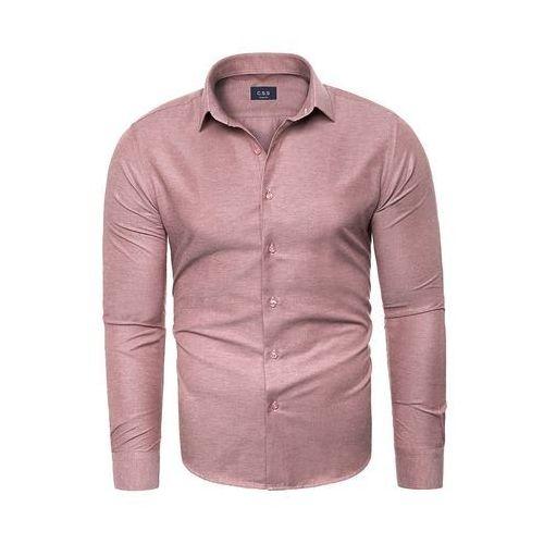 Koszula męska długi rękaw C.S.S 275 - ciemny róż, KOSZULA (RL37) - BIAŁY