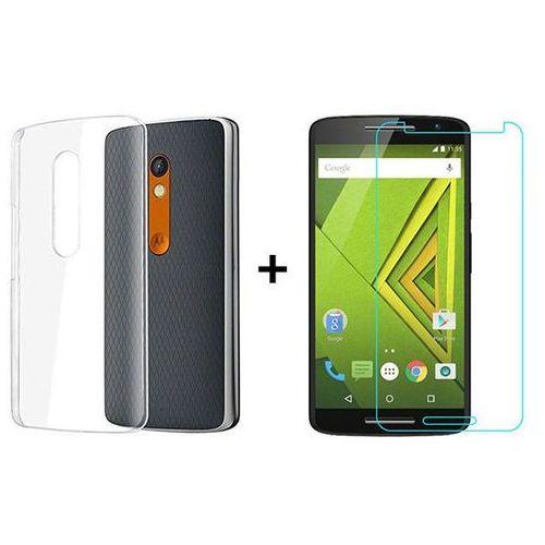 Zestaw   Obudowa Ultra Slim Przezroczysta + Szkło hartowane Perfect Glass   Lenovo / Motorola Moto X Play