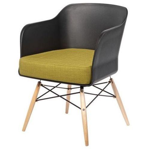 D2 Krzesło viva czarny/oliwkowy poduszka