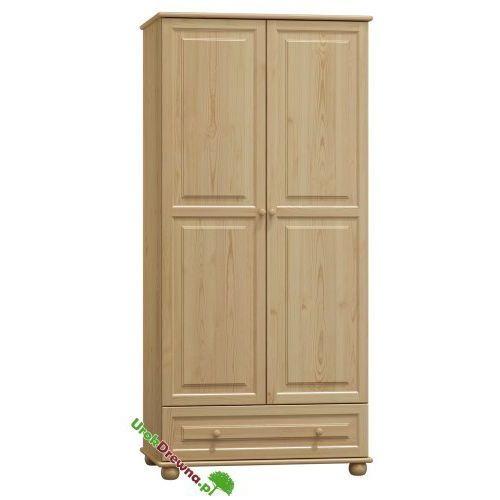 Szafa sosnowa 2 drzwiowa z szufladą i podziałem 80 (nr kat. 65), 125