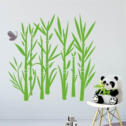Wally - piękno dekoracji Szablon malarski bambus 1046