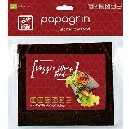 Tortilla wraps warzywna czerwona bezglutenowa bio 100 g papagrin marki Papagrin (przekąski raw)