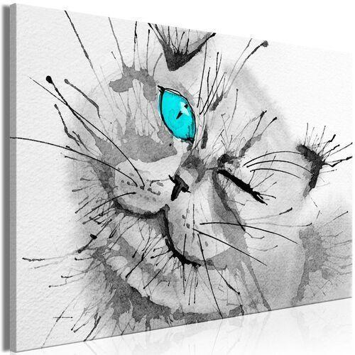 Artgeist Obraz - radosne spojrzenie (1-częściowy) szeroki niebieski
