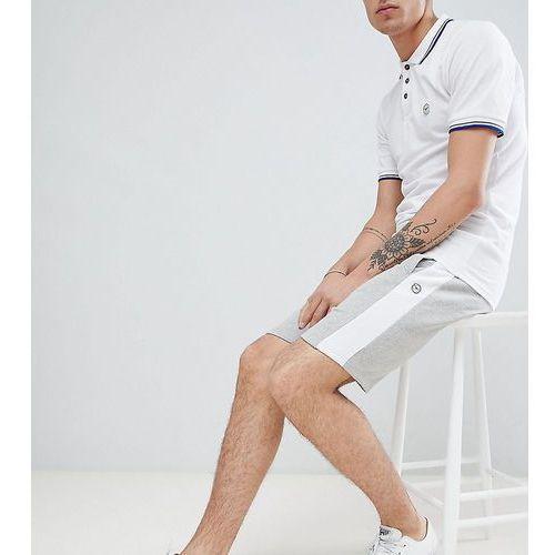 Le Breve TALL Jersey Side Stripe Shorts - Grey