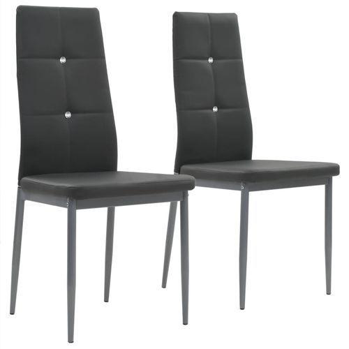 Krzesła ze sztucznej skóry, 2 szt., 43 x 43,5 x 96 cm, szare