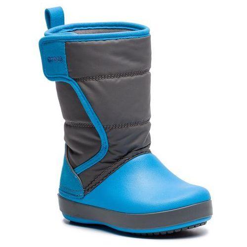 Śniegowce CROCS - Logepoint Snow Boot K 204660 Siate Grey/Ocean