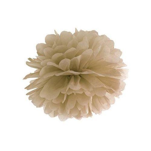 Party deco Dekoracja wisząca pompon kwiat - karmelowa - 35 cm - 1 szt. (5902230712027)