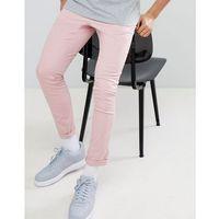 super skinny chinos in pastel pink - pink marki Asos design