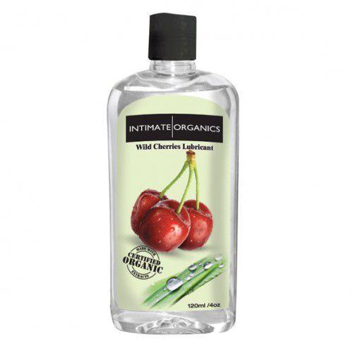 Środek nawilżający - Intimate Organics Wild Cherries Flav Lube 120 ml Czereśniowy z kategorii Żele erotyczne