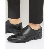 oxford brogues in black leather - black marki Silver street