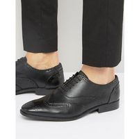 oxford brogues in black leather - black, Silver street