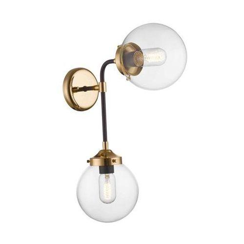 Kinkiet lampa ścienna riano w0454-02d-sdac modernistyczna oprawa mondo kule balls przezroczyste marki Zumaline